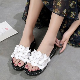Ericdress Appliques Platform Slip-On Mules Shoes