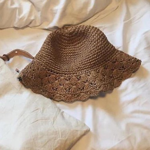 Ericdress Hollow Out Straw Sunhat