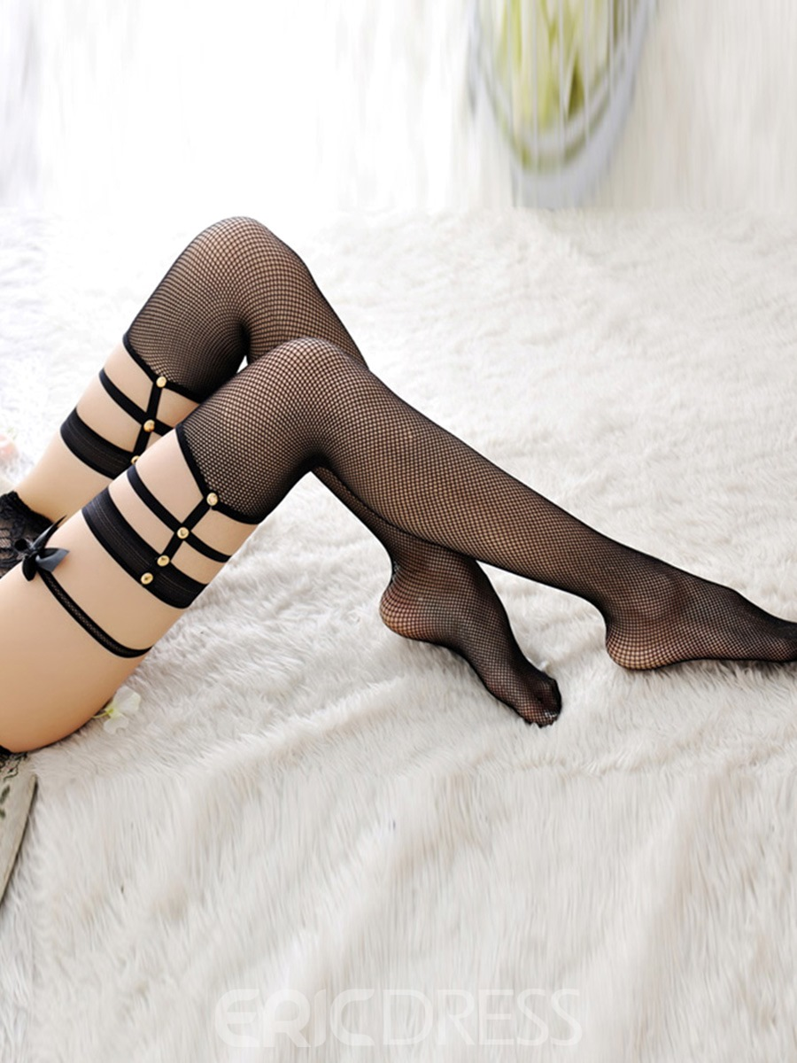 Eridress Fishnet Hollow Sexy Thigh-High Stockings