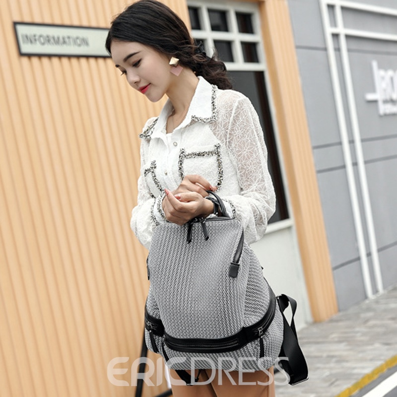 Ericdress Nylon Zipper Medium Backpack