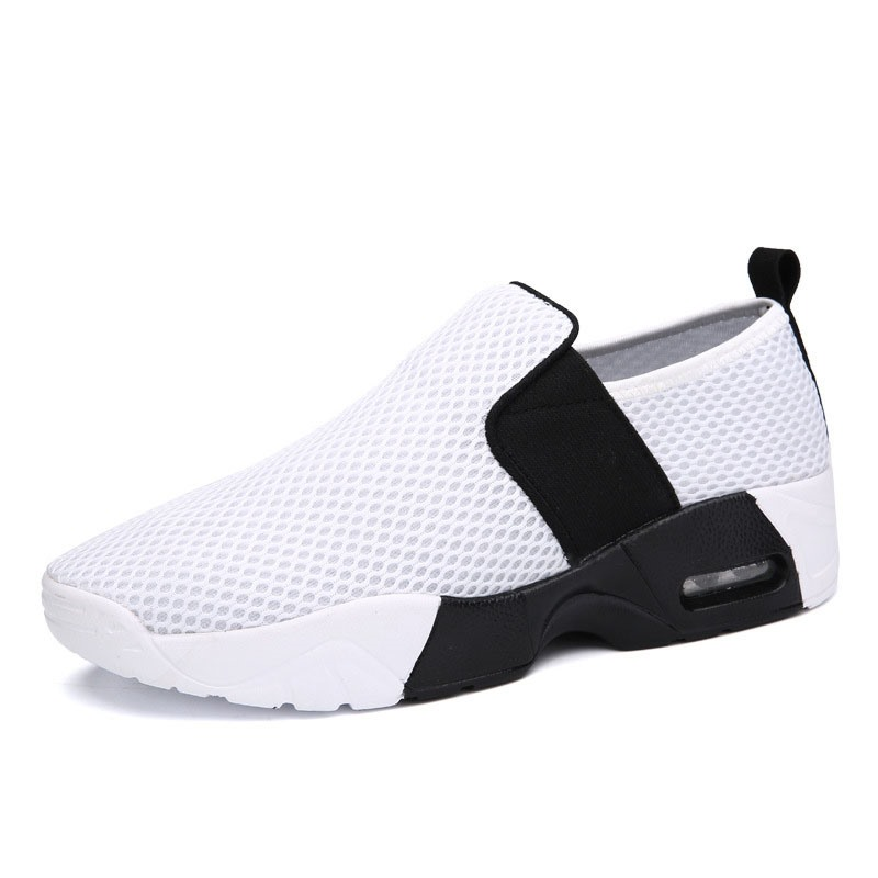 Ericdress Plain Elastic Band Round Toe Men's Sneakers