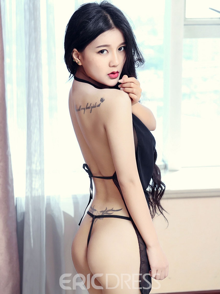 Ericdress See-Through Lace-Up Backless Sexy Lingerie
