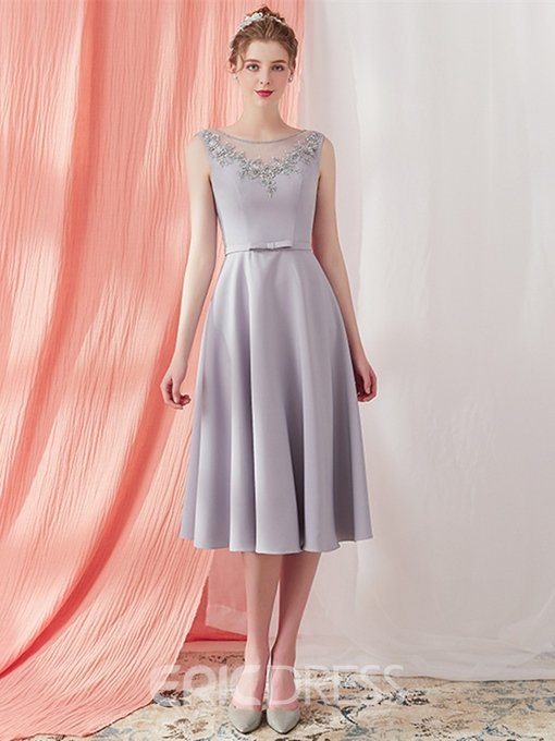 Ericdress A Line Tea Length Prom Dress With Beadings