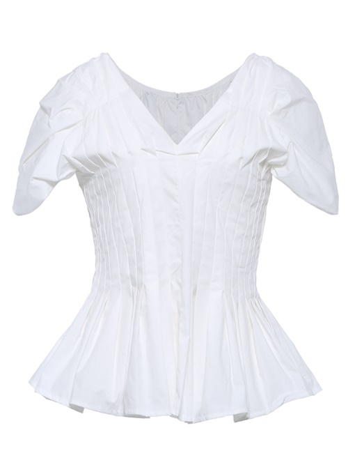 Peplum Solid Color Pullover Women's Blouse