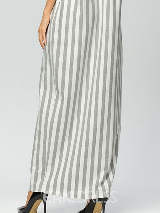 Ericdress Stripe Patchwork Pullover Casual Dress