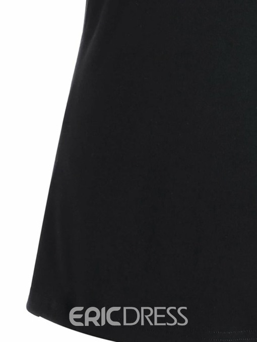 Ericdress Women's Off Shoulder Embroidery Plus-Size Tee Shirt