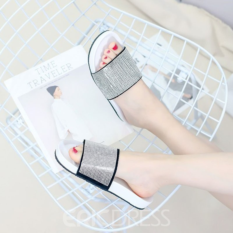 Ericdress Diamond Platform Slip-On Mules Shoes