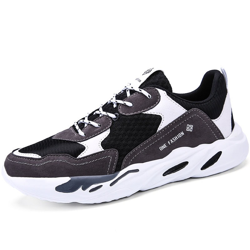 Ericdress Lace-Up Color Block Mesh Men's Athletic Shoes