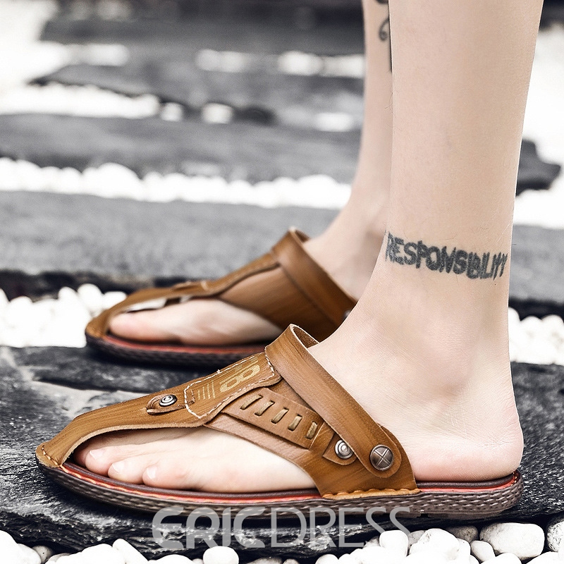 Ericdress Sewing Slip-On Thong Men's Sandals