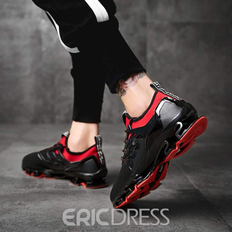 Ericdress Lace-Up Color Block Patchwork Men's Sneakers