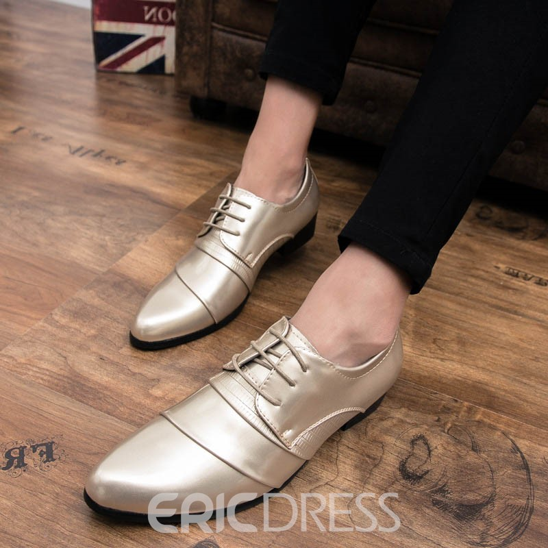 Ericdress PU Professional Lace-Up Round Toe Men's Oxfords