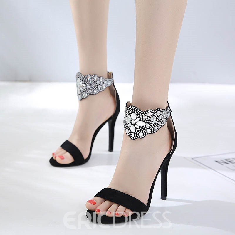 Ericdress Sweet Diamond Banquet Stiletto Sandals