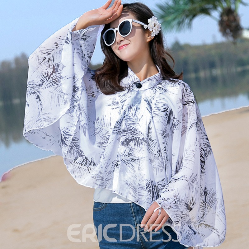 Ericdress Summer Flower Shawl Scarf