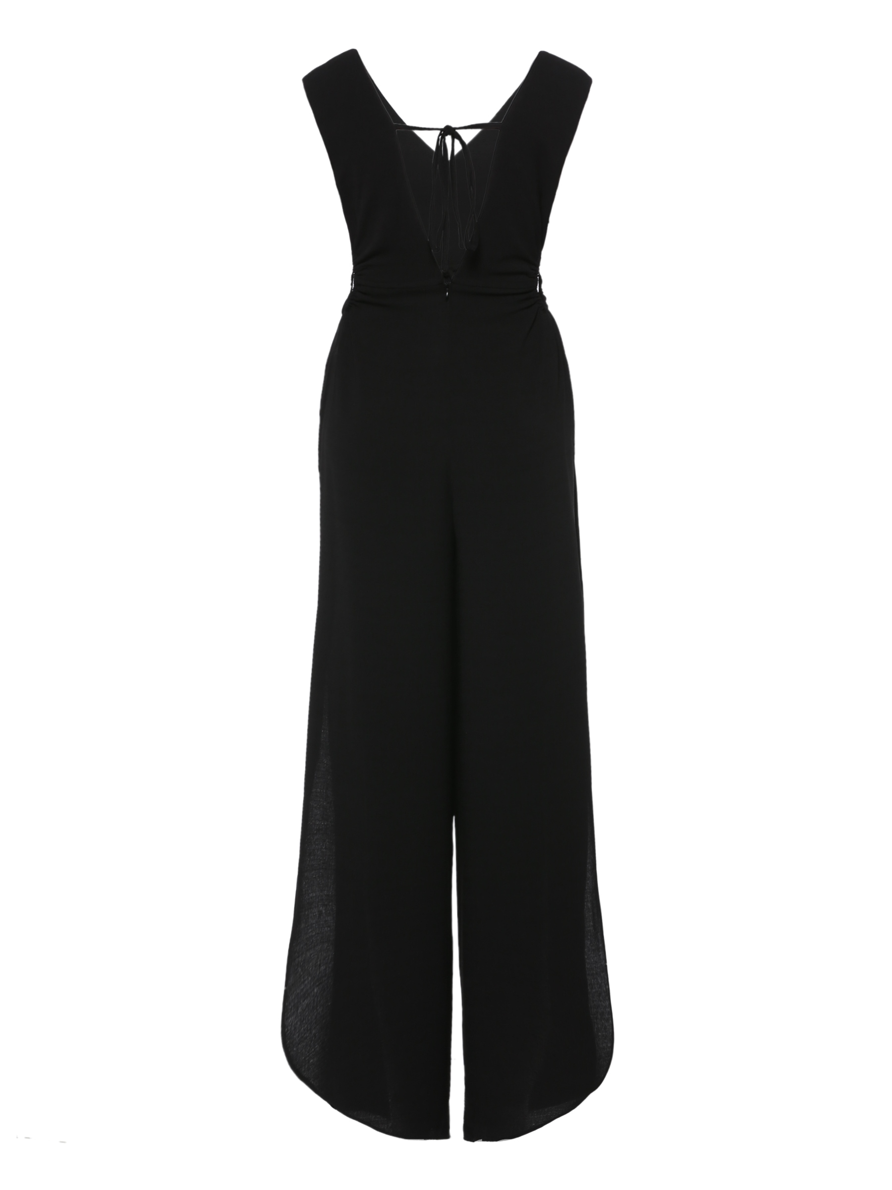 Ericdress Wide Leg Plain Lace-Up Women's Jumpsuit