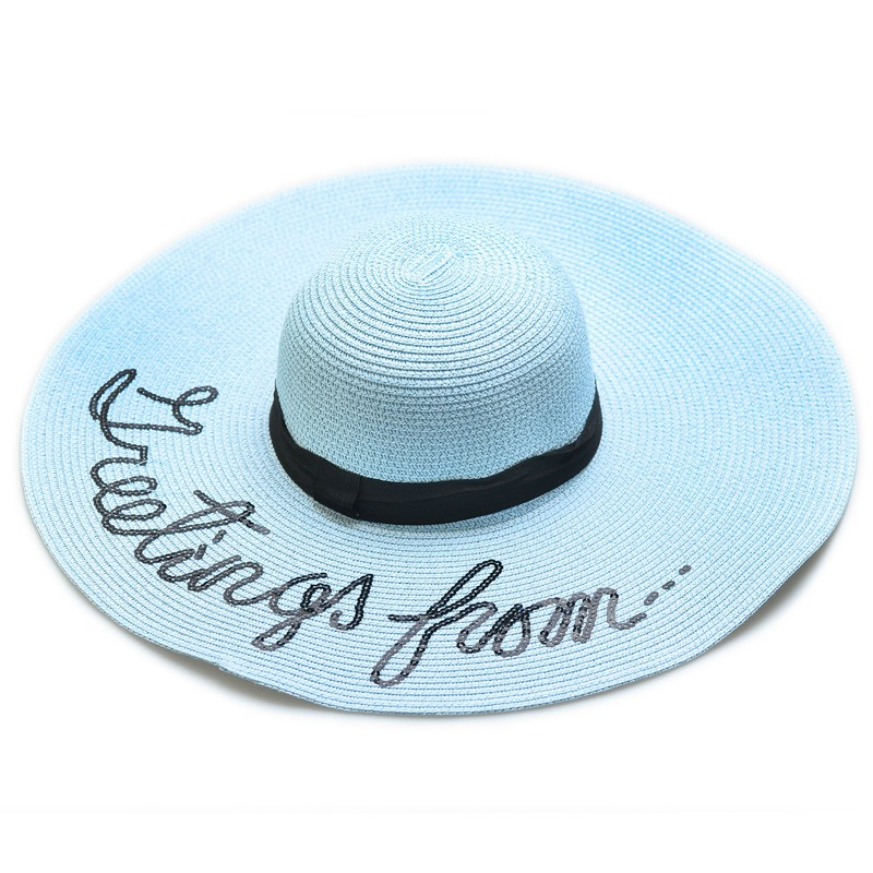 Ericdress Colorful Big Brim Sun Hat