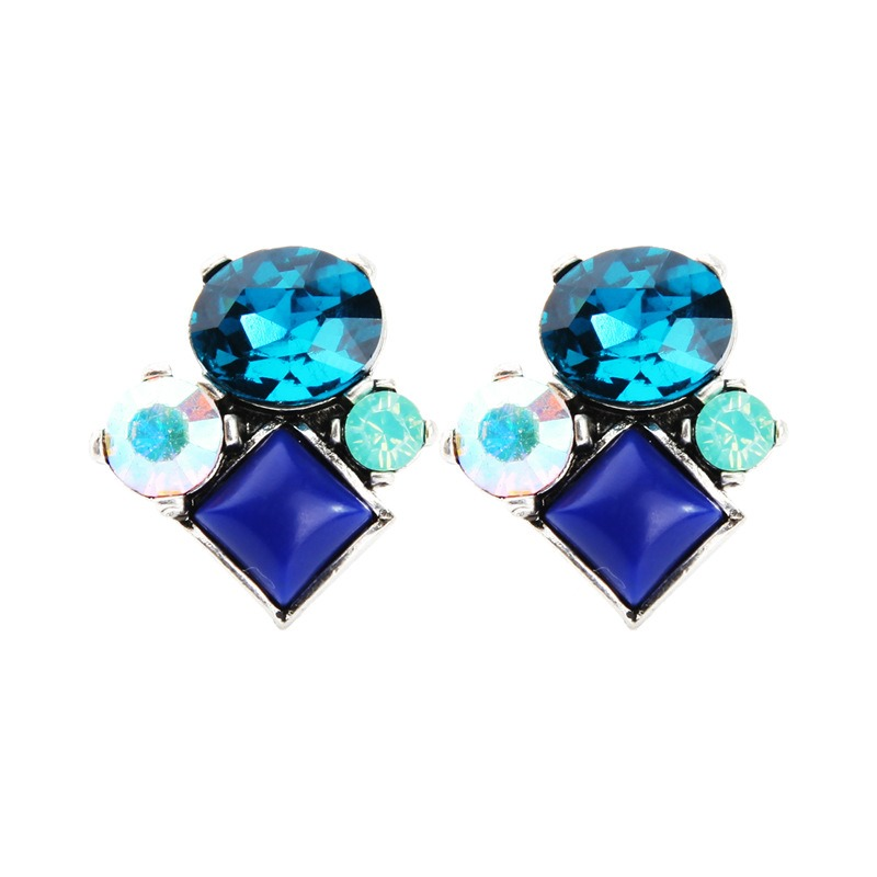 Ericdress Shinning Colorful Crystal Earrings