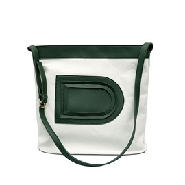 Fashion Color Block Magnetic Snap Shoulder Bag