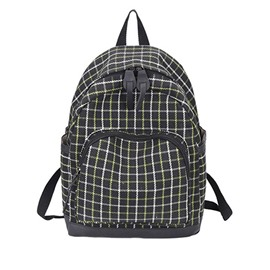 Ericdress Nylon Plaid Soft Women Backpack