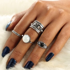 Ericdress Alloy Cat's Eye Ring Set