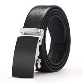 Ericdress Simple Black Belt For Men