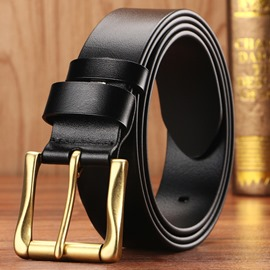 Ericdress Top Leather Brass Buckle Men's Belts