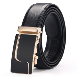 Ericdess Double Leather Automatic Buckle Men's Belt
