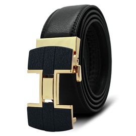 Ericdress Golden H Black Men's Belt
