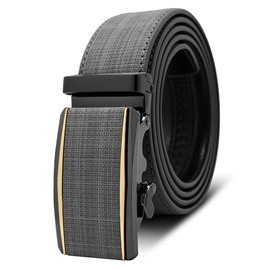 Ericdress Classics Grid Leather Belt For Men
