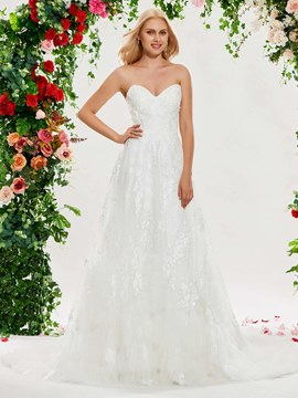 Ericdress Sweetheart A Line Lace Wedding Dress