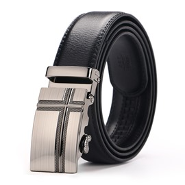 Ericdress Cross Bales Catch Leather Men's Belt