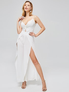 Ericdress Asymmetric Backless Women's Jumpsuit