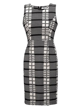 Ericdress Bodycon Above Knee Plaid Women's Dress