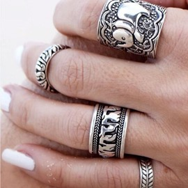 Ericdress Elephant Width Ring