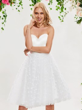 Ericdress Sweetheart Knee Length Reception Wedding Dress