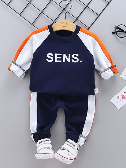Ericdress Patchwork Letter Printed Baby Boy's Outfits