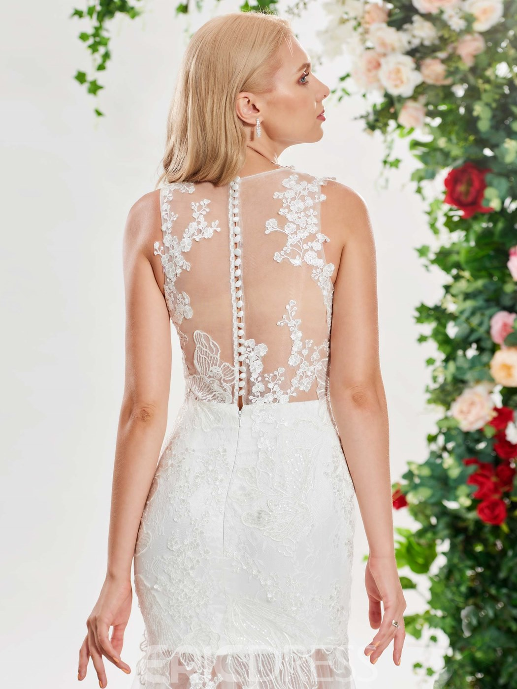 Ericdress Sexy Mermaid Lace Wedding Dress