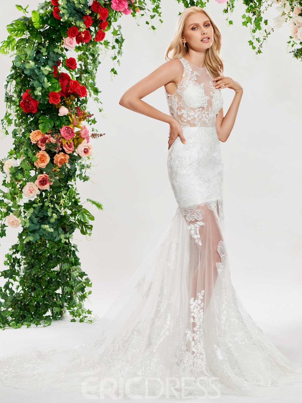 Ericdress Sexy Mermaid Sequins Lace Wedding Dress