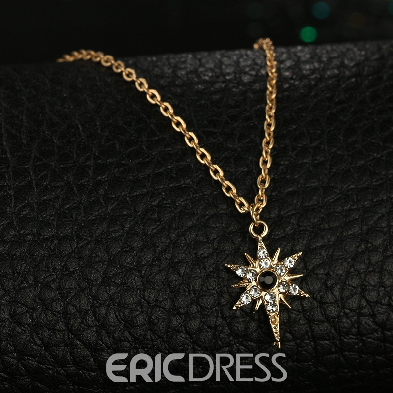 Ericdress Sun Diamante Necklace