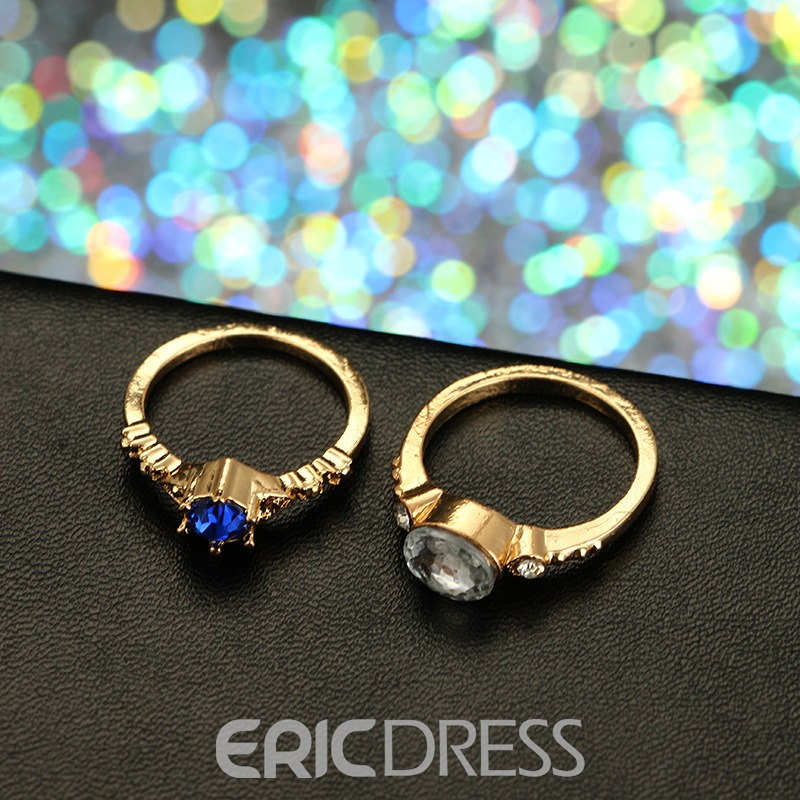 Ericdress Gems Shining Fashion Ring
