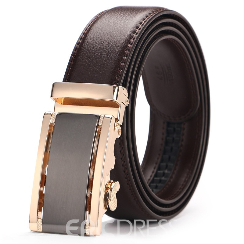 Ericdress Leather Automatic Buckle Men's Fashion Belt