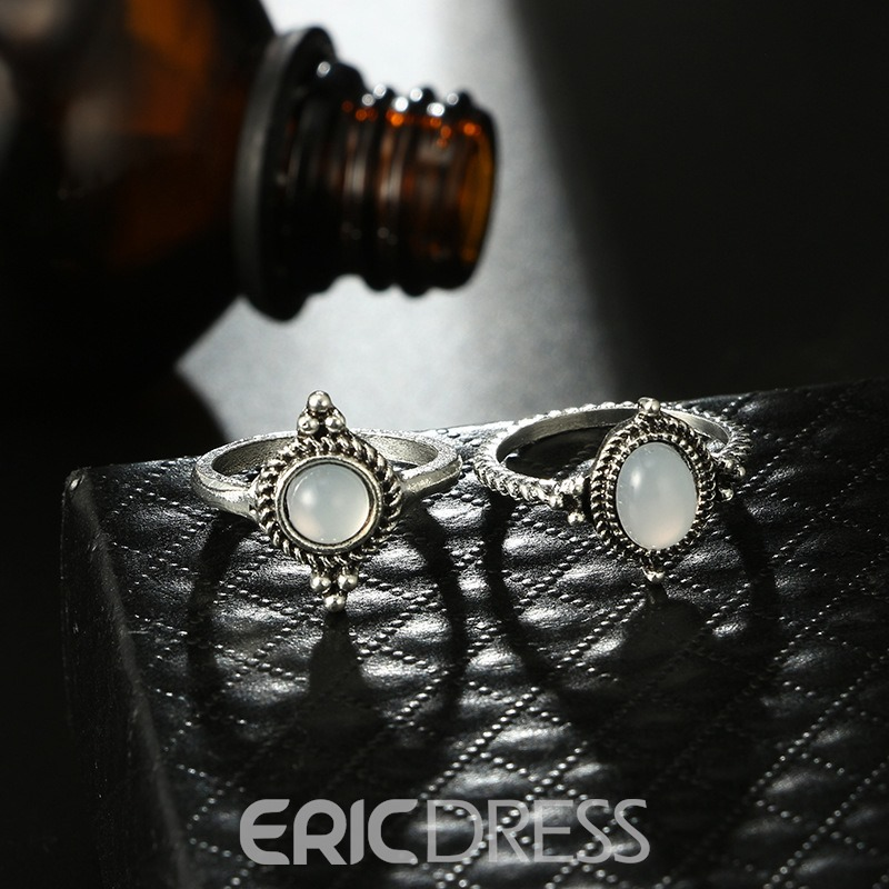 Ericdress Gems Carving Vintage Ring