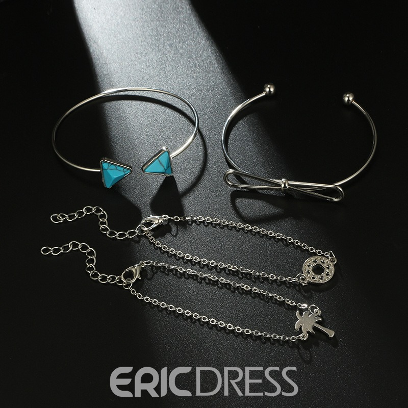 Ericdress Coconut Tree Fashion Bracelet(A Set)