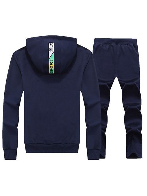 Ericdress Striped Plain Mens Casual Sports Suits
