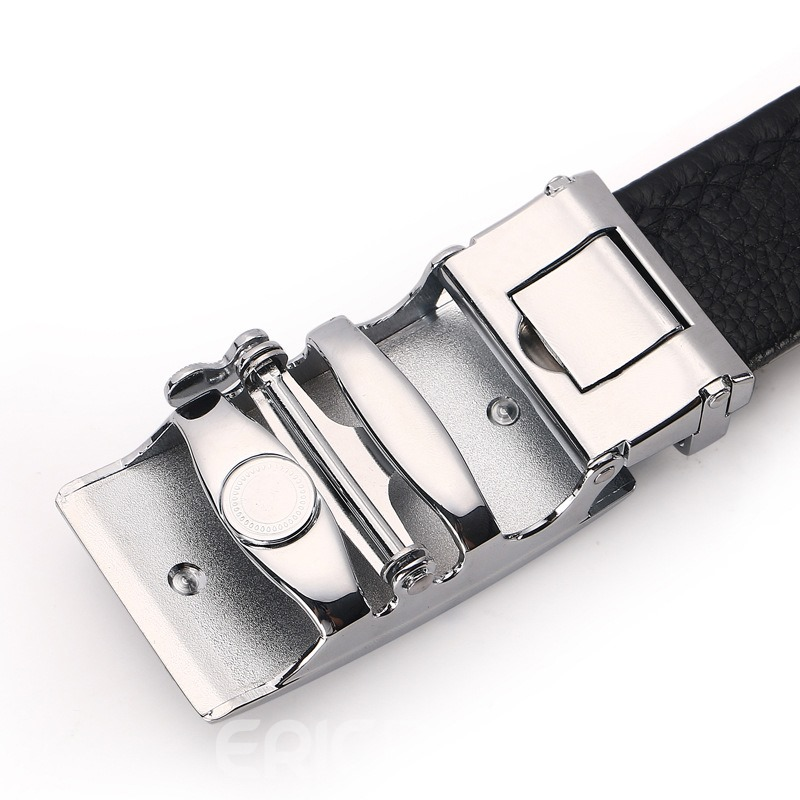 Ericdress Classics Silver Black Belt For Men