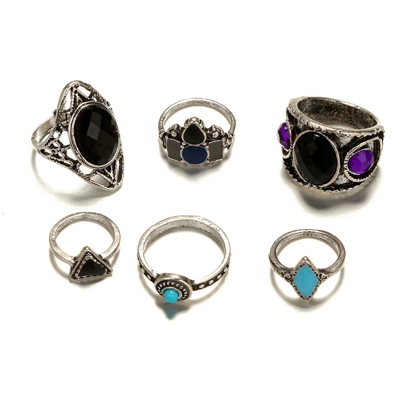 Ericdress Ethnic Style Gems Ring