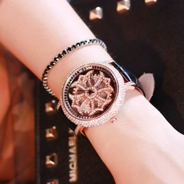 Ericdress Floral PU Women Watch