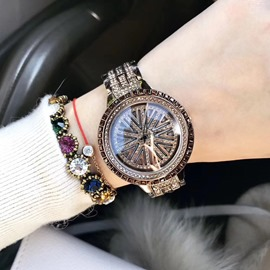 Ericdress Full-Jewelry Golden Shining Women Watch