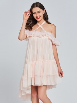 Ericdress Halter High Low A Line Homecoming Dress
