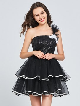 Ericdress One Shoulder A Line Short Homecoming Dress
