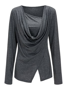 Ericdress Plain Loose Casual Pleated Cool Hoodie